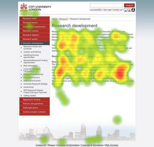 heatmap eye tracking carte de chaleur