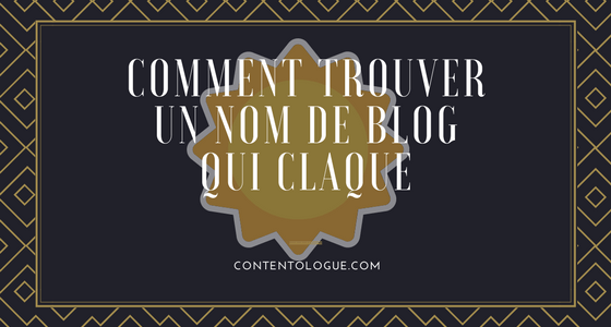 Comment trouver un nom de blog